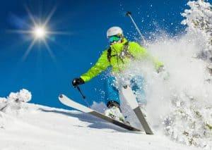skiier in action